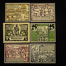 C  5 x Notgeld Gebesee mit original Banderole / Tüte , emergency money unc kompl