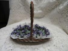 Lladro Flat Basket with violets