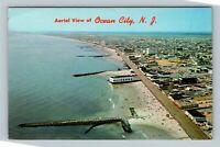 Ocean City NJ, Aerial View, Chrome New Jersey Postcard