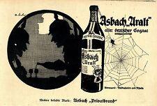Asbach Uralt PRIVATBRAND Rüdesheim am Rhein Historische Annonce 1918