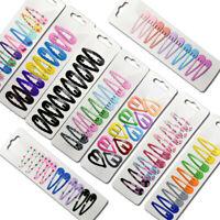 10Pcs 5cm Girls Candy Color Paint Printing Hair Clip Hairpin Barrette Headwear