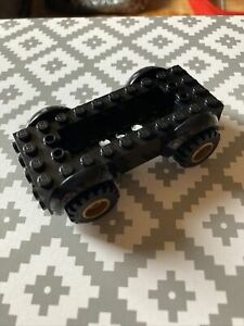 LEGO Black 5x10x2 1/2 Vehicle Base With Gold Wheels & Tyres 11650