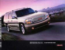 2002 02 GMC Yukon Denali original sales  Brochure MINT