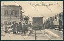 L'Aquila Avezzano Terremoto Stazione Treno cartolina QQ3923