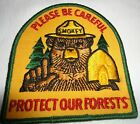 Vintage Smokey The Bear Please Be Careful Protect Our Forest Patch