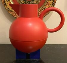 Alessi Euclid Red and Blue Thermo Pitcher / Carafe Designed By Michael Graves