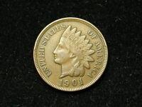 SUMMER SALE!!  XF+ 1901 INDIAN HEAD CENT PENNY w/ DIAMONDS & FULL LIBERTY #70s