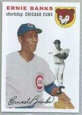 ERNIE BANKS CHICAGO CUBS 2006 TOPPS TRIBUTE BASEBALL CARD (1954 DESIGN)