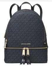 New Michael Kors Rhea backpack signature MK Admiral gold sling monogram bag