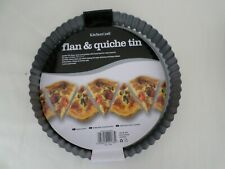 "Kitchen Craft  Non Stick Loose Base Fluted Quiche Flan Tin  10"""