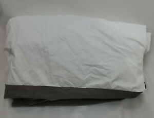 Casper King Size Fitted Sheet White and Gray 100% Supima Cotton