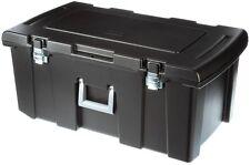 Footlocker Storage Box Bin Container Case Metal Latches Rolling Wheels 92 Qt.