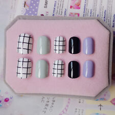 24pcs Short Multi-color False Nails Finger DIY Manicure Salon Nail Art Tip YW-38