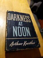 Darkness at noon 1941, 1st Edition by Arthur koestler, hcdj