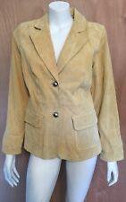 Bradley Yellow Suede Leather Jacket Blazer Sz M