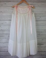 VTG 1950s Lord & Taylor lingerie pink white pastel bridal Nightgown SZ S-M NG22