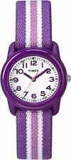 Timex Kids TW7C061009J QA Purple Stainless Steel Watch With Purple Striped Band