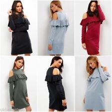 Polyester Round Neck Dresses Cut Out