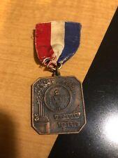 Vintage Track & Field Medal Ribbon, Obstacle Race, Bronze Copper, July 4, 1921