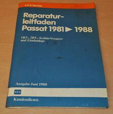 VW Passat B2 Typ 32 1B3 2B5 Keihin Vergaser 1981 - 1988 Werkstatthandbuch