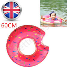 Inflatable Donut Tube Pool Float Lounger Beach Swimming Toy Lilo Swim Ring Kids