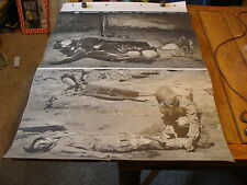 Vintage WWII ERA TRAINING CHART: 2 THINGS TO DO FOR A BROKEN LEG #26 writing on