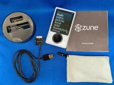Microsoft Zune Media Player with Dock & pouch Bundle- 30GB White -Slightly Used