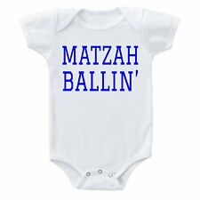 MATZAH BALLIN' Cute Baby  one-piece Infant Bodysuit Romper T-shirt