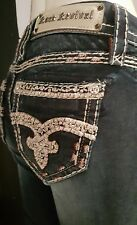 ROCK REVIVAL BOOT CUT SIZE 25 THICK STITCH