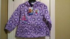 Disney Frozen purple embroidered light jacket hooded size 2T girls