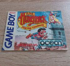 Nintendo Gameboy (GB) // Super Hunchback - Anleitung/Instructions // dt. PAL
