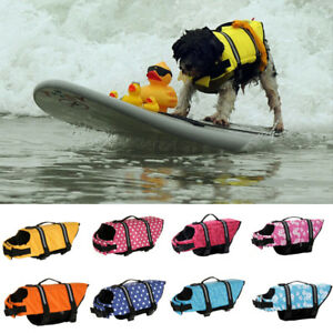 Pet Dog Puppy Life Jacket Safety Saver Swimming Vest Clothes Reflective Coat SPE