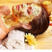 500 sheets 4x4 cm 24k 100% pure gold leaf facial mask Anti-aging spa Free Ship