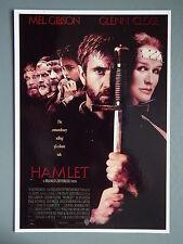 R&L Modern Postcard: Hamlet, Mel Gibson, Movie Promo