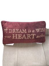 Disney Parks Cinderell A Dream Is A Wish Your Heart Makes Throw Pillow for Home