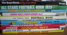 10 Football Books 1970's~George Best~Shoot~Striker~Roy of Rovers~Topical Times
