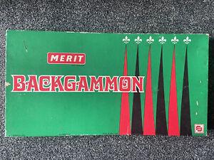 VINTAGE MERIT BACKGAMMON SET, Complete, Great Condition.