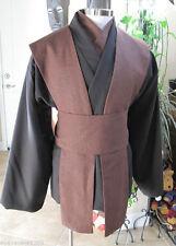 Dark brown tunic, rust brown shirt, tabards & sash/obi, 5 piece costume