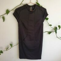 Scanlan Theodore Black Front Pocket Stretch Viscose S/M Pencil Dress Work