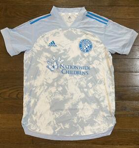 adidas Columbus Crew Prime Blue Soccer Jersey Men's LARGE Nationwide Children's