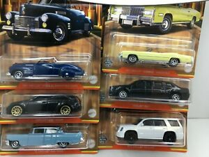 Matchbox * Set of 6 * Cadillac Series*55-41-75-2015 & MORE * 1:64