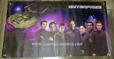 """Gorgeous Mint Vinyl Banner Star Trek: Enterprise Crew & Nx-01 on 35""""x20"""" Mint!"""