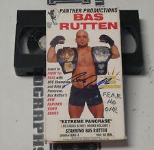 Bas Rutten Signed Extreme Pancrase MMA VHS Tape BAS Beckett COA UFC Autograph 1