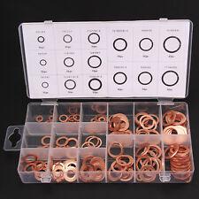 150Teiliges Kupferringe Sortiment Dichtringe Dichtungsringe Ölablaßschrauben Set