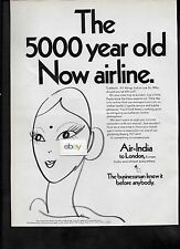 AIR INDIA 1968 BOEING 707 JETS 5,000 YEAR OLD NOW AIRLINE TO LONDON FROM JFK AD