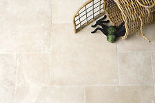 IVORY LIGHT TRAVERTINE FLOOR & WALL TILES 600X900X15mm TUMBLED £47.99 PER SQM