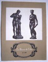 LA BOURSE DE L' ART N° 20 - LES PETITS BRONZES DE LA RENAISSANCE ITALIENNE - PUB