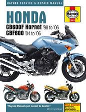 HAYNES 3915 MOTORCYCLE SERVICE REPAIR MANUAL HONDA CB600F HORNET CBF600 98 - 06