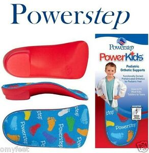 Powerstep PowerKids Orthotic 3/4 Length Insoles Inserts Toddler Youth Child Kids
