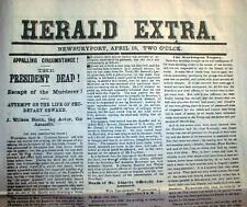 Best 15 newspapers LINCOLN ASSASSINATION 1865 J W Booth